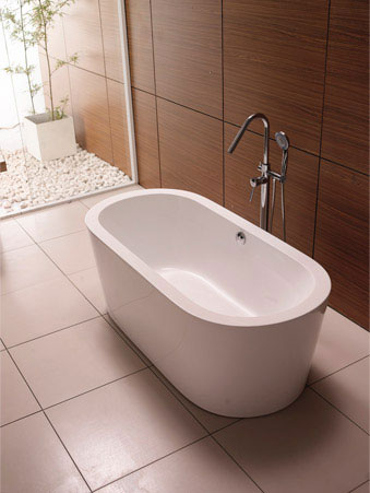 椭圆形落地式浴缸建材产品