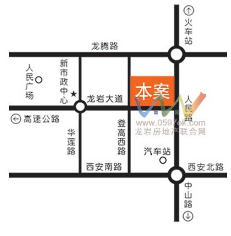 明珠城市广场楼盘交通图