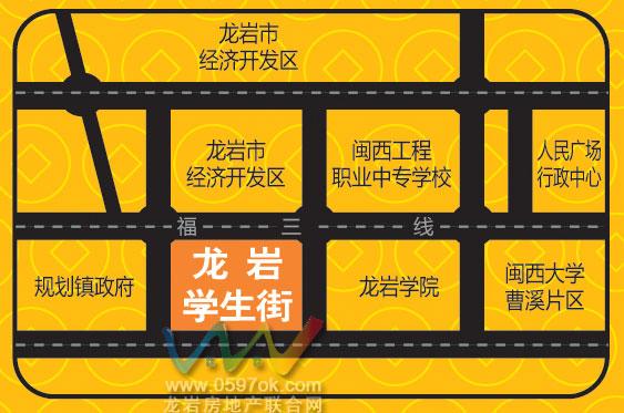 学生街楼盘交通图