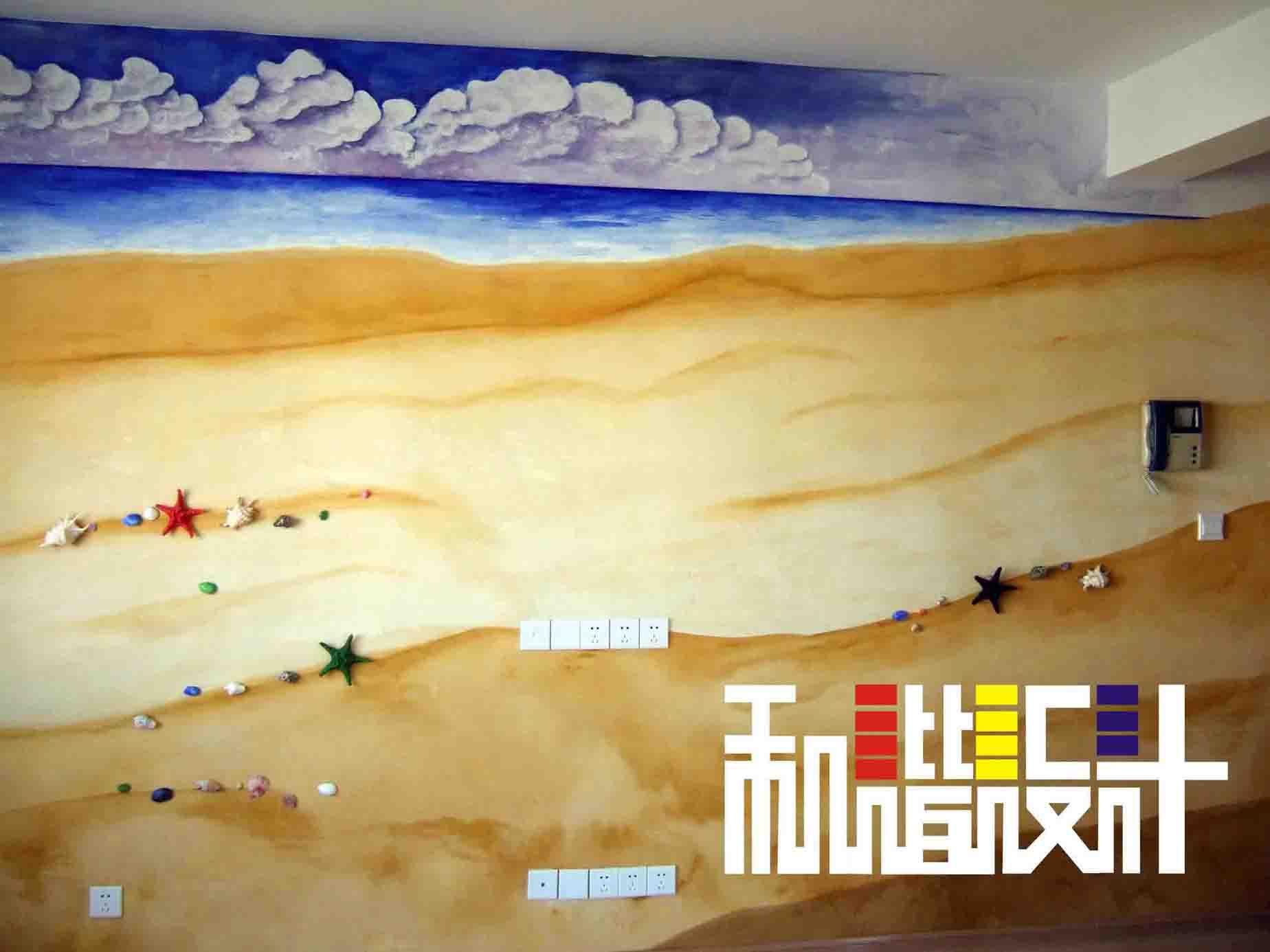 沙滩电视背景墙1装修案例