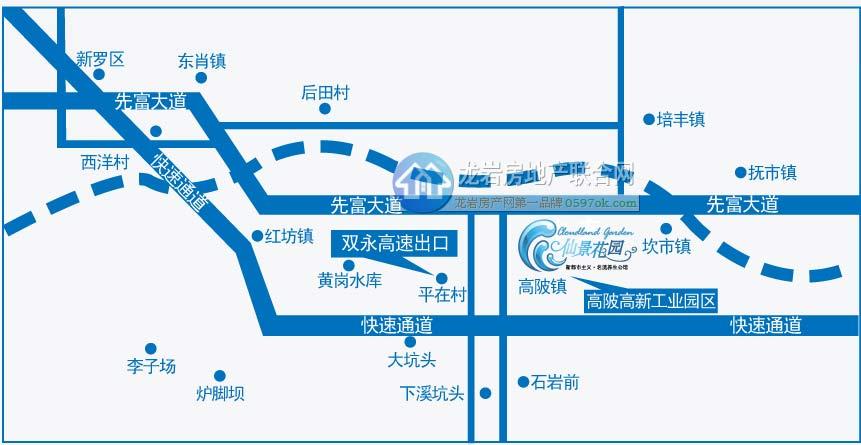 仙景花园楼盘交通图
