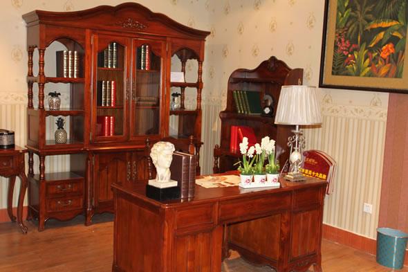 简约欧式实木家具艾森堡庄园书房系列建材产品