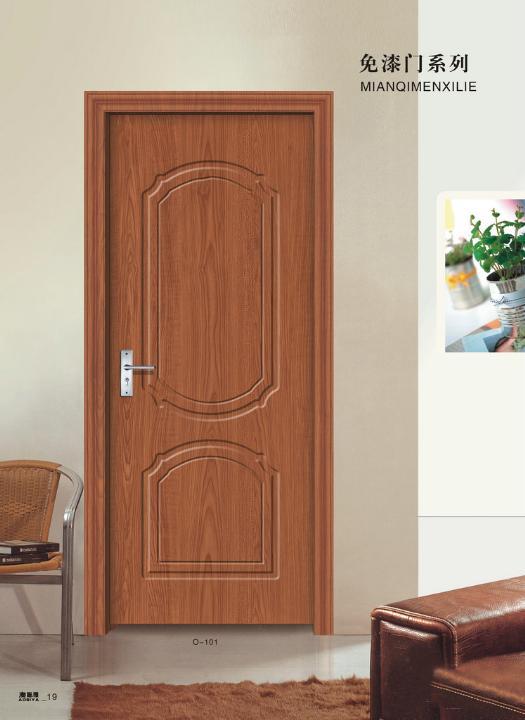 PVC免漆实木门建材产品