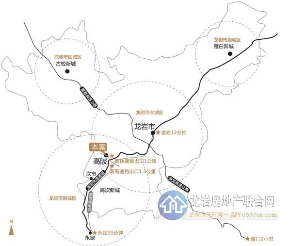 恒地・中央楼盘交通图