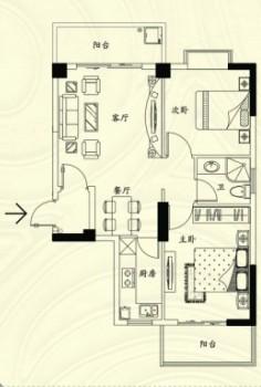 香榭景园楼盘户型图
