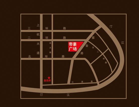 帝豪广场楼盘交通图