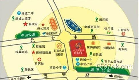 明珠城楼盘交通图