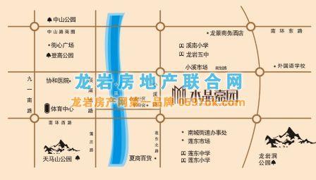 水晶嘉园楼盘交通图