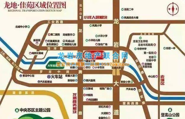 龙地佳苑楼盘交通图
