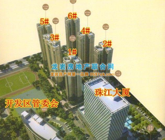 珠江花园楼盘鸟瞰图