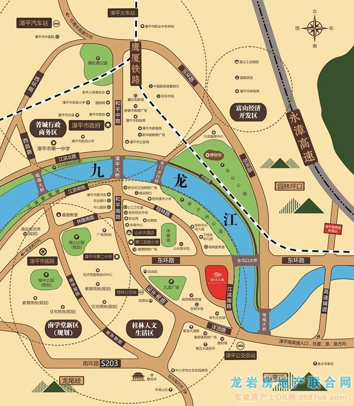 滨江上城楼盘交通图