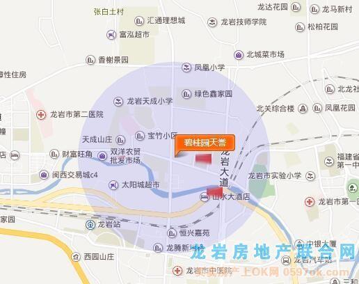 碧桂园・天誉楼盘交通图