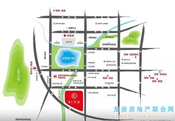 龙地万和城楼盘交通图