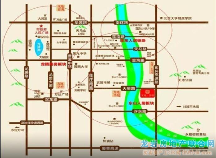 龙地・锦园楼盘交通图
