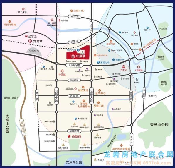 龙地万福城(西安金融小区)楼盘交通图