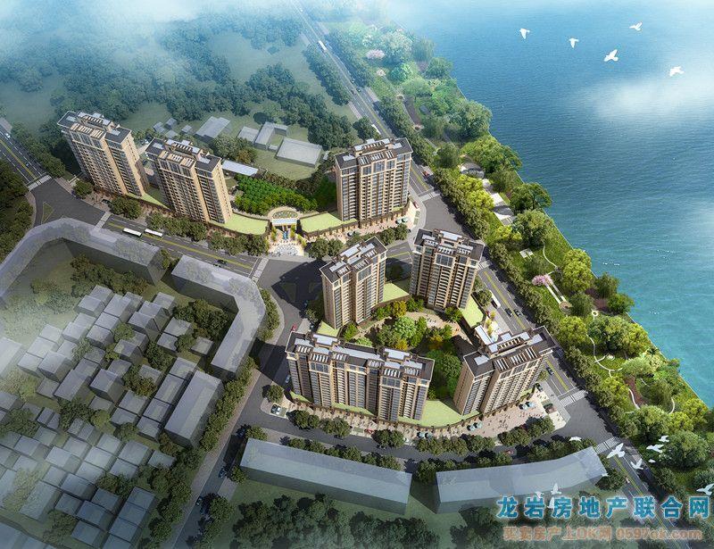 滨江上城楼盘鸟瞰图