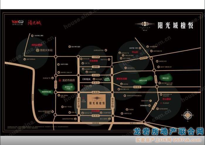 阳光城檀悦楼盘交通图
