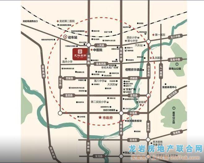 龙祥美第楼盘交通图