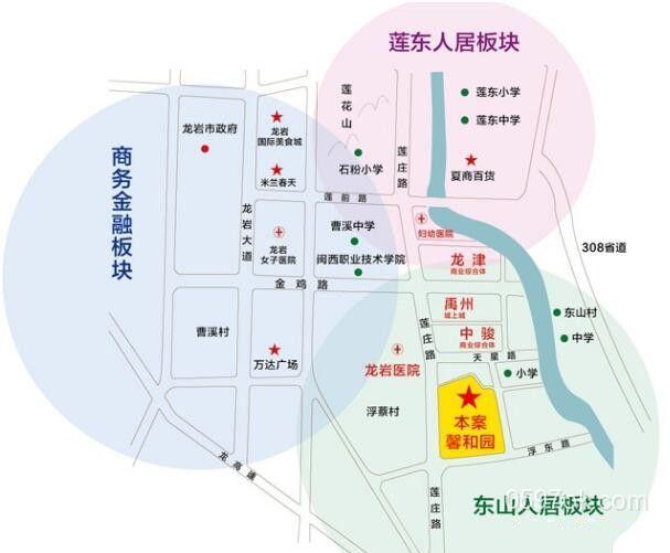 中福城(馨和园)楼盘交通图