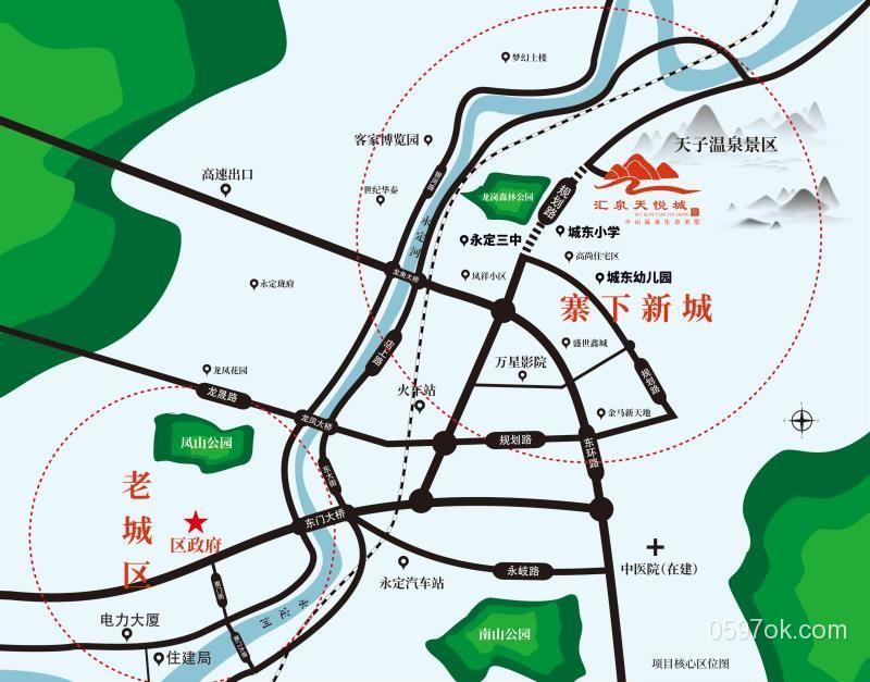 汇泉天悦城楼盘交通图