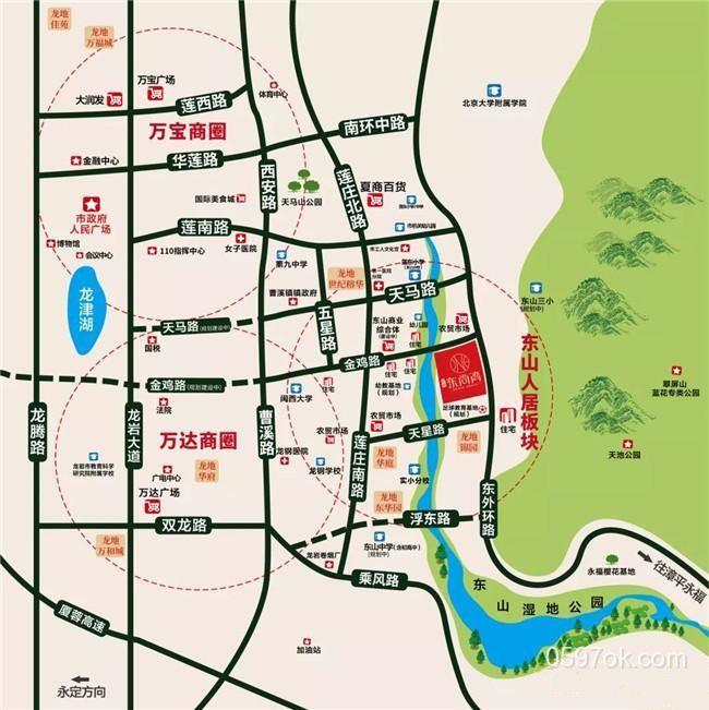 龙地东尚湾楼盘交通图