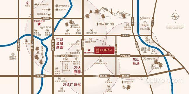 源昌君悦山楼盘交通图